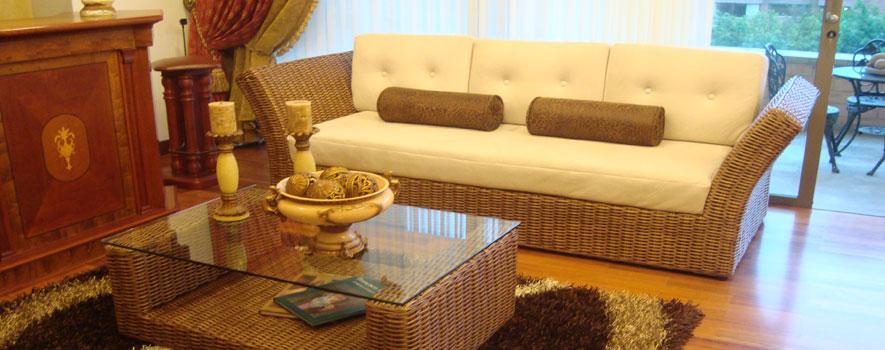 Muebles de minbre habitacin de los muebles de mimbre - Sofas de mimbre ...